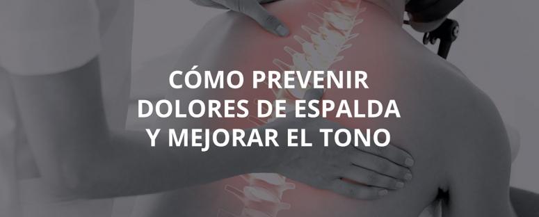 prevenir dolores de espalda
