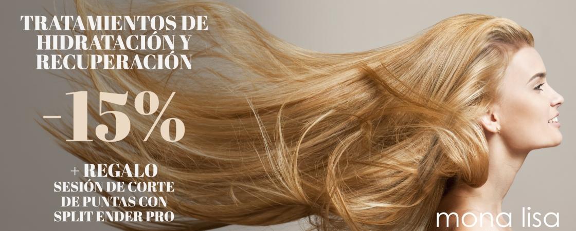 Tratamientos de hidratación y recuperación en MonaLisa peluquería.